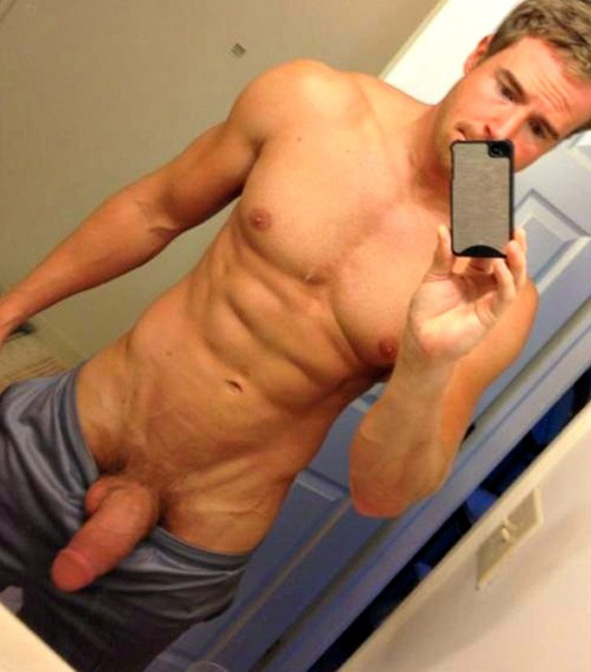 selfies Cock guy mirror