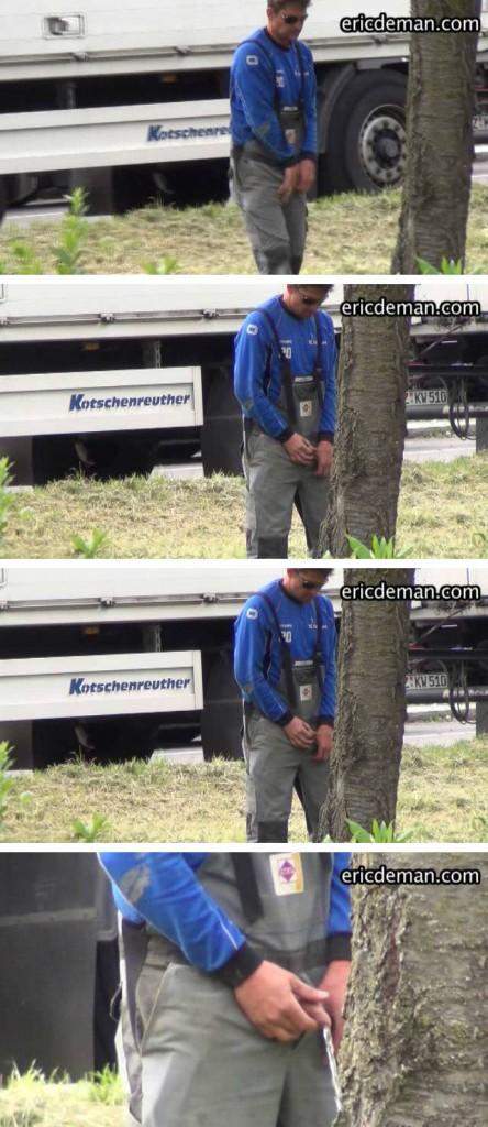 hidden cam man peeing outdoor