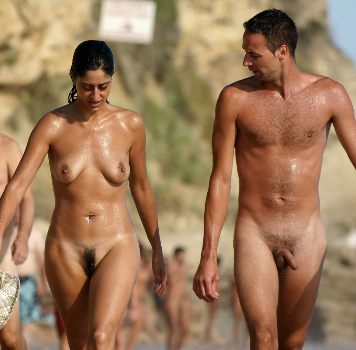 First time nude beach couple