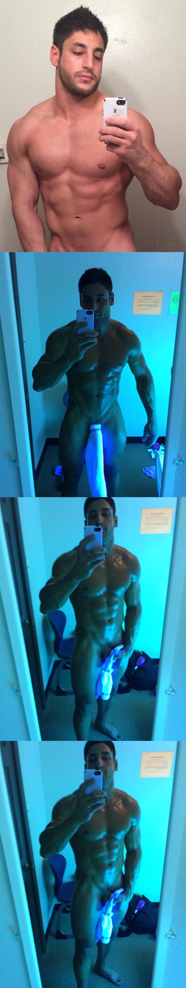 spycam muscle guy naked solarium big cock