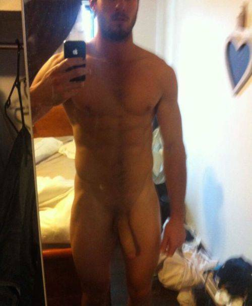 ex bf muscle guy selfie big cock