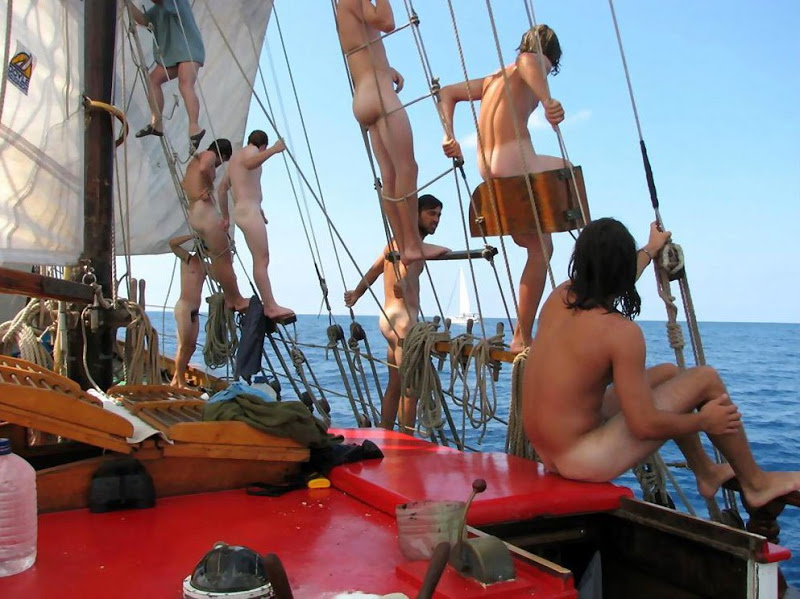 guys party naked boat