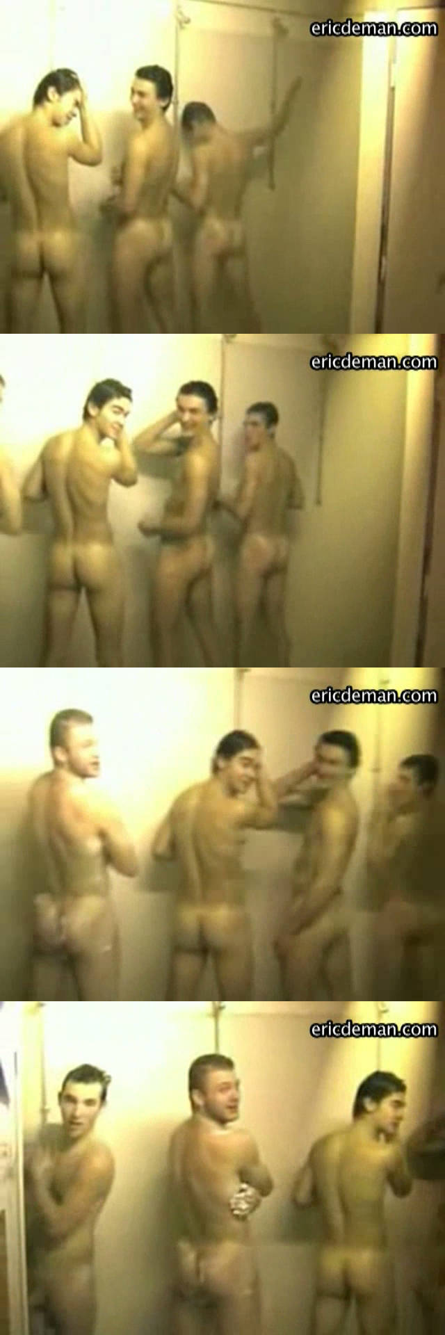 rugby players naked guys taking a video in the shower