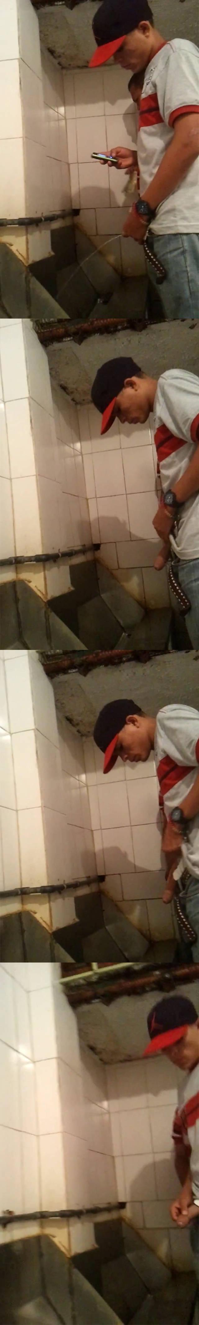 ericdeman big cock guy caught peeing urinal