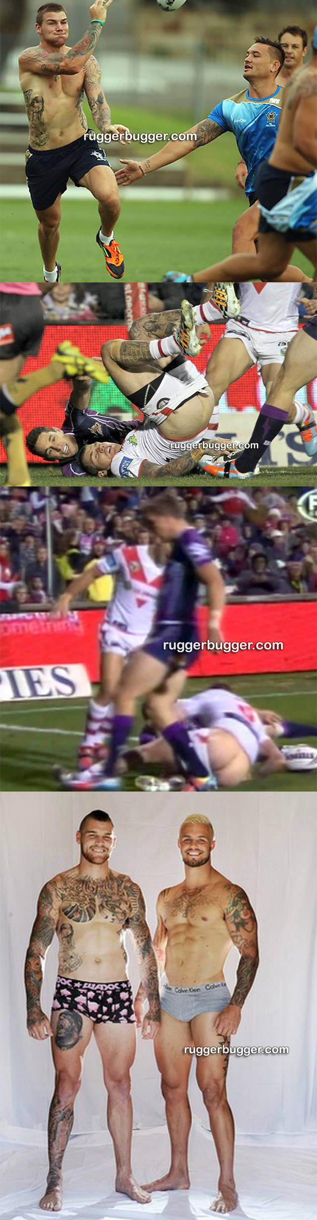ruggerbugger rugby player josh dugan accidental ass exposure