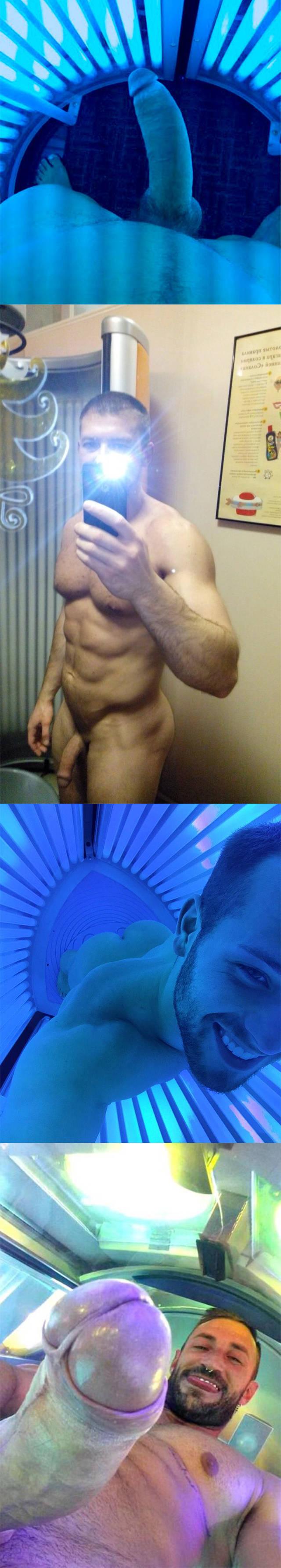 voyeur hardon studs naked solarium
