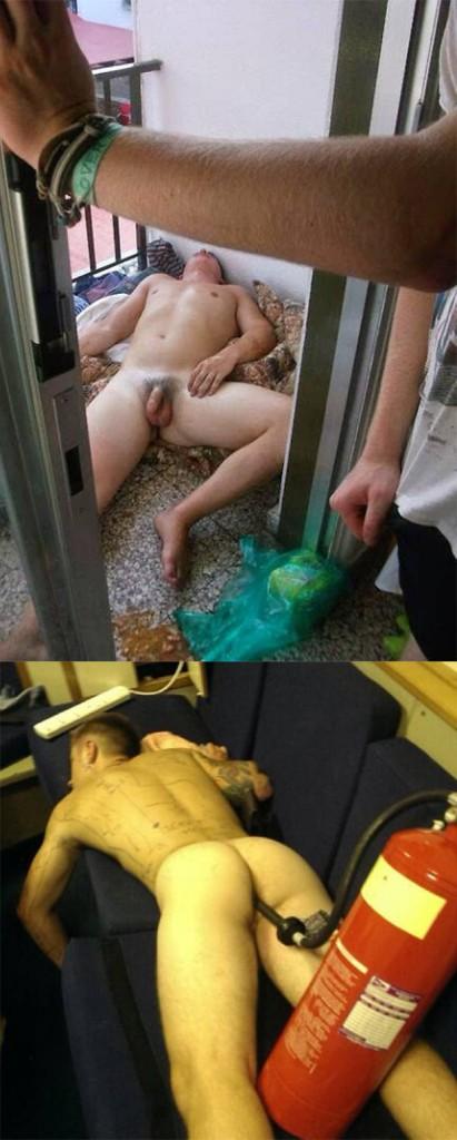 amateur drunk guys sleeping naked