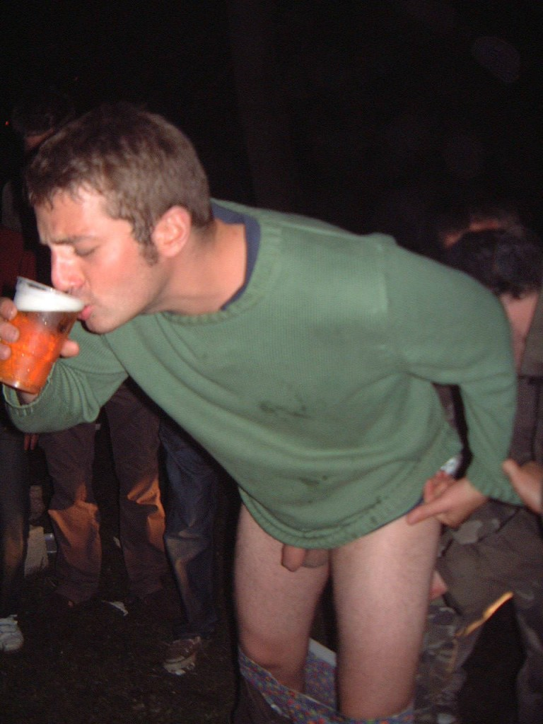 candid drunk guy dick out in public