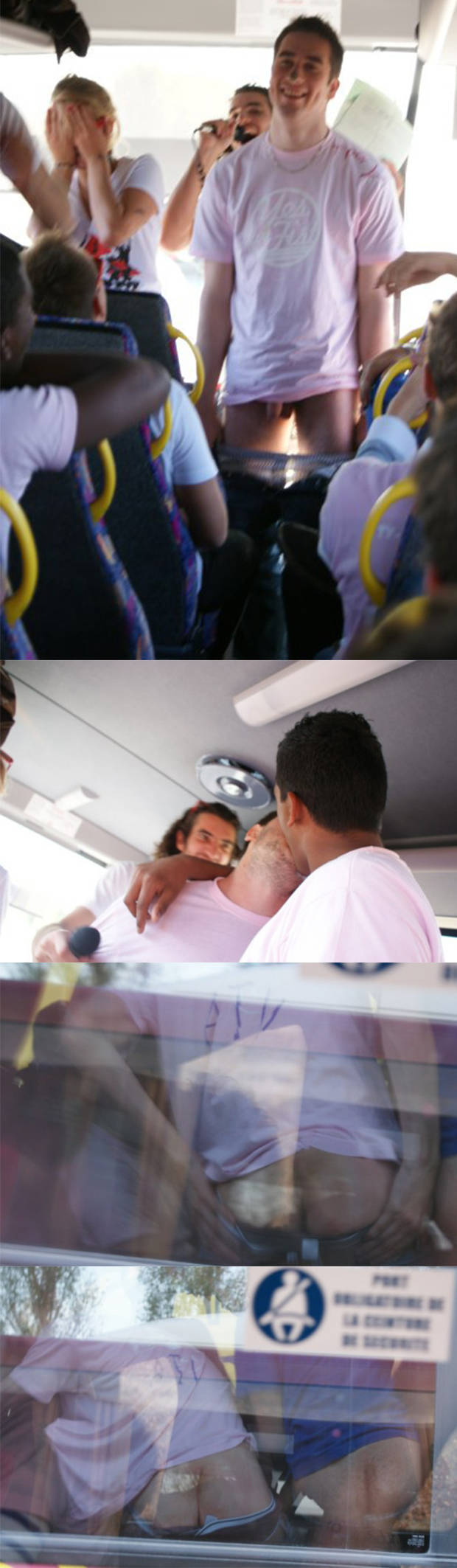 candid straight guy undressing bus