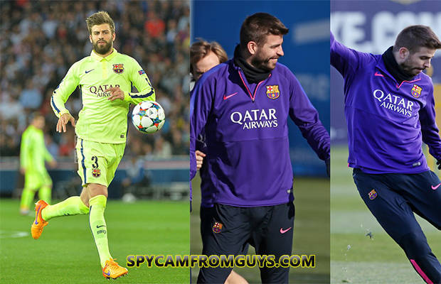 footballer pique big dick bulge visible penis line