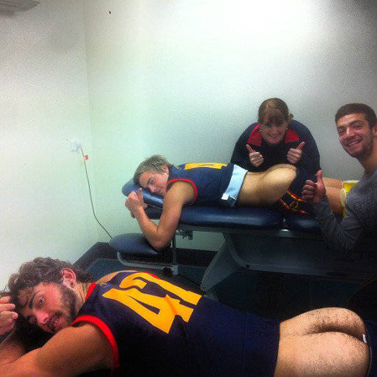 sport afl players hairy arse out
