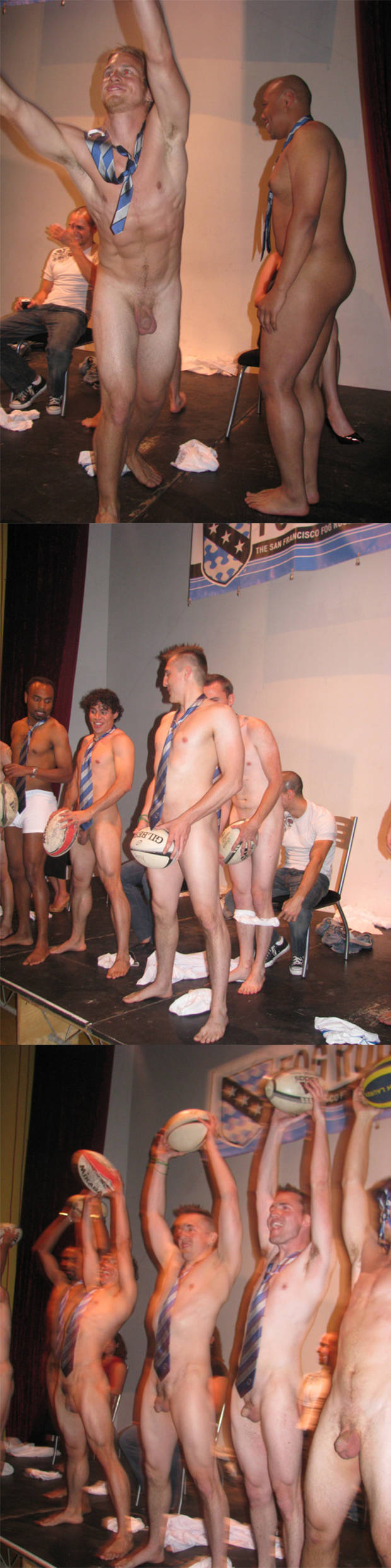 sportsmen naked rugby guys celebration