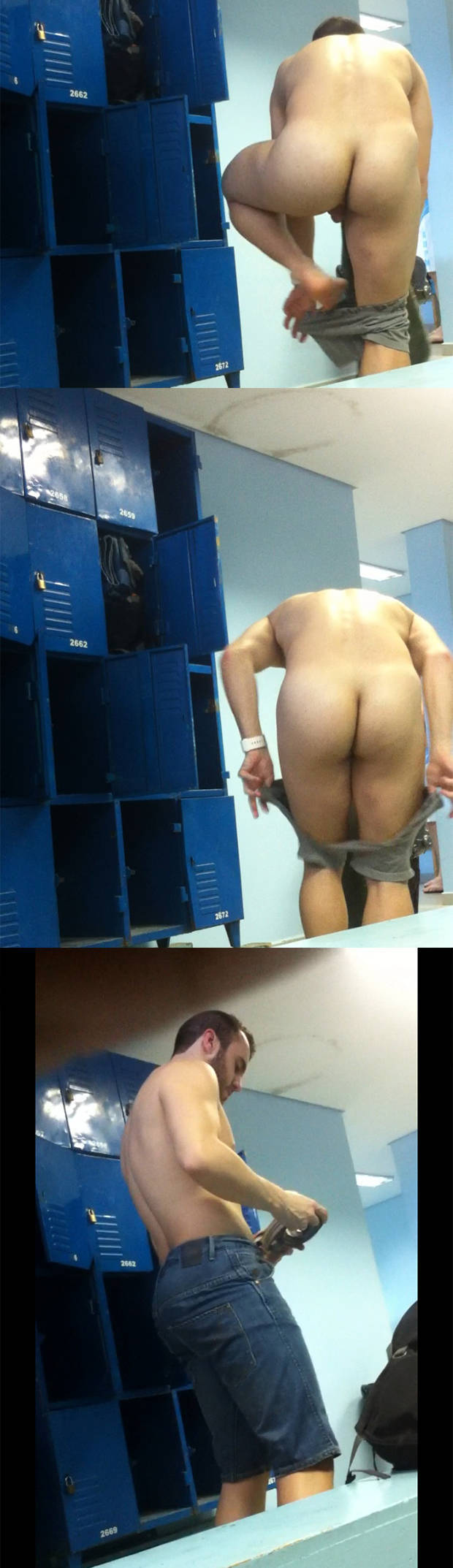 spycam naked bearded guy gym locker room