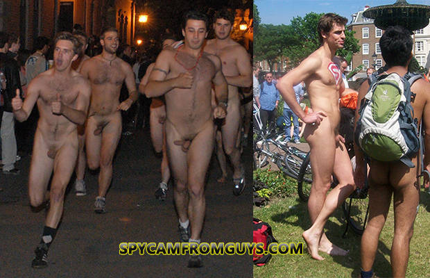 straight guys naked showing it off in public