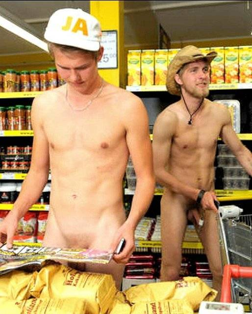 straight naked lads supermarket cock out