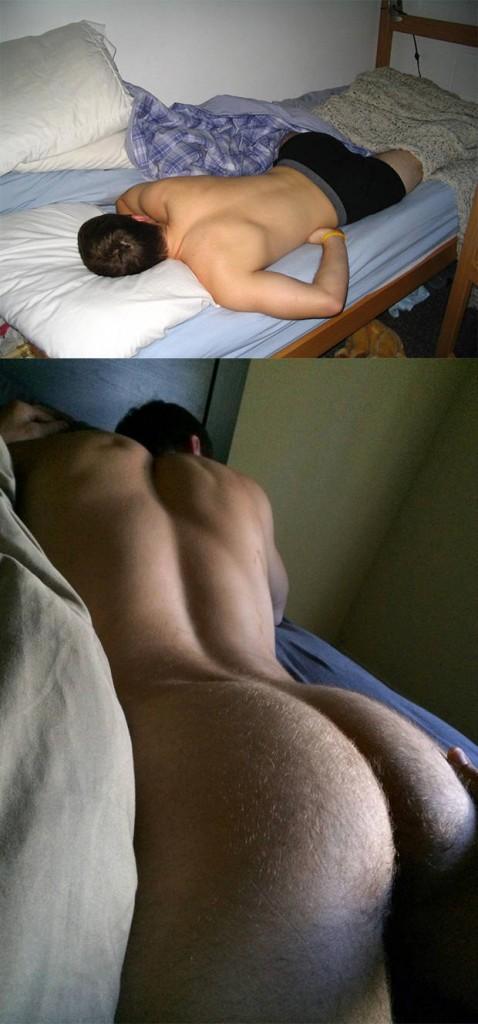 ass naked guy