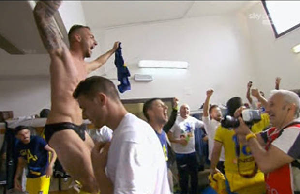 footballers undies celebrations