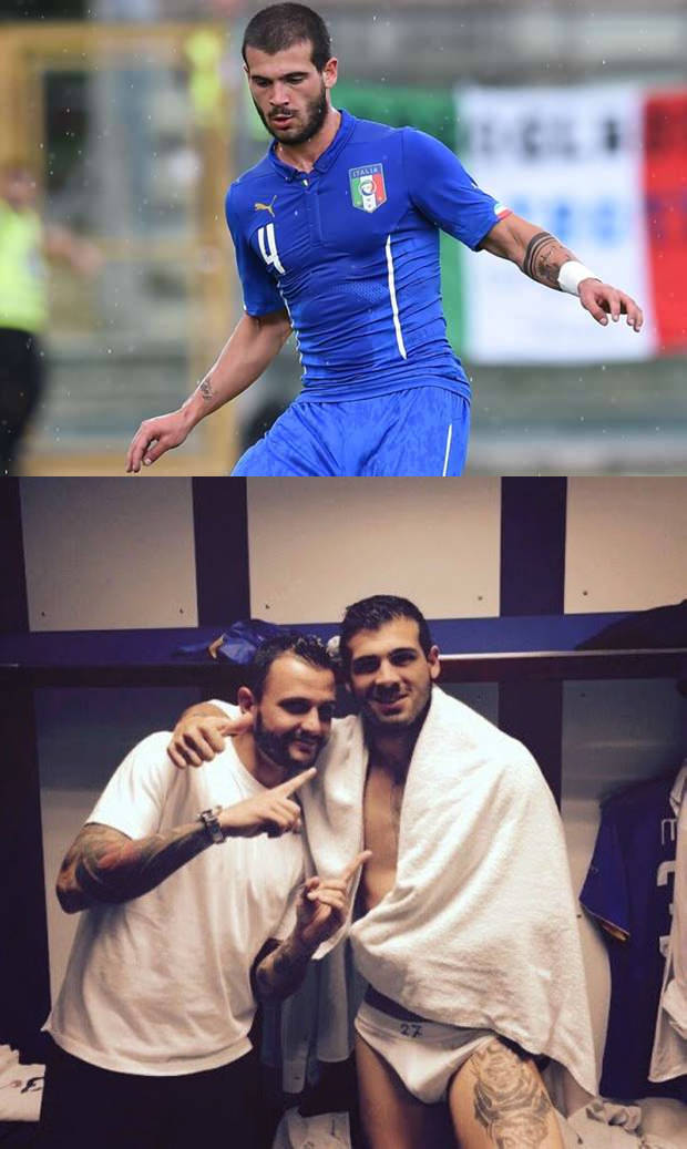 italian footballer stefano sturaro lockerroom