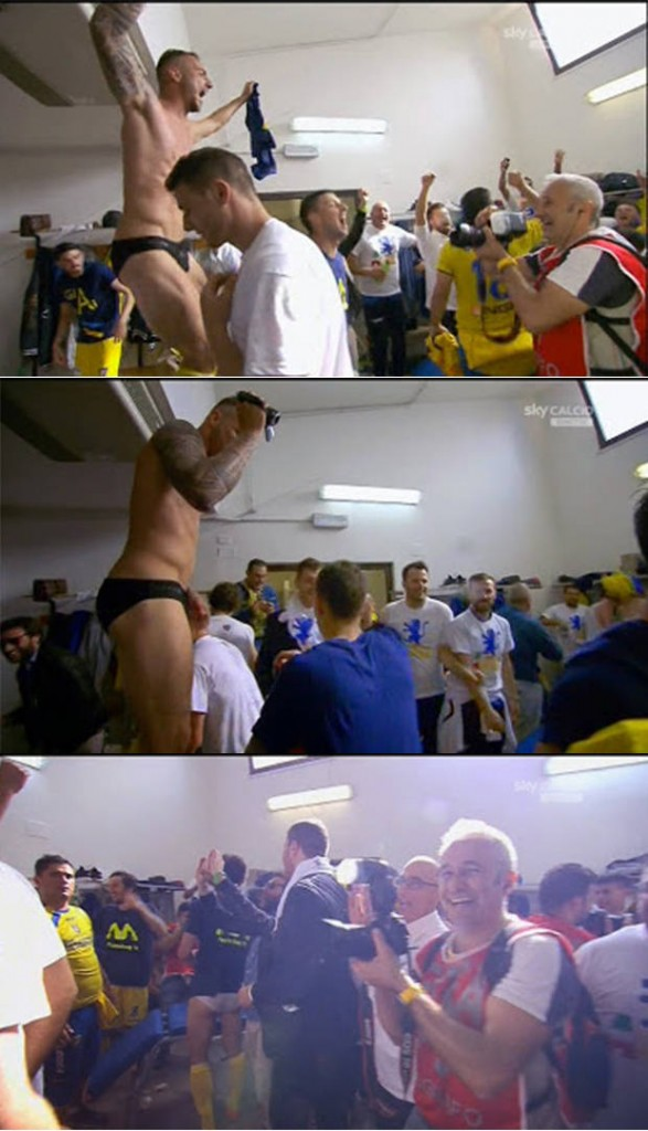 italian footballers undies lockerroom