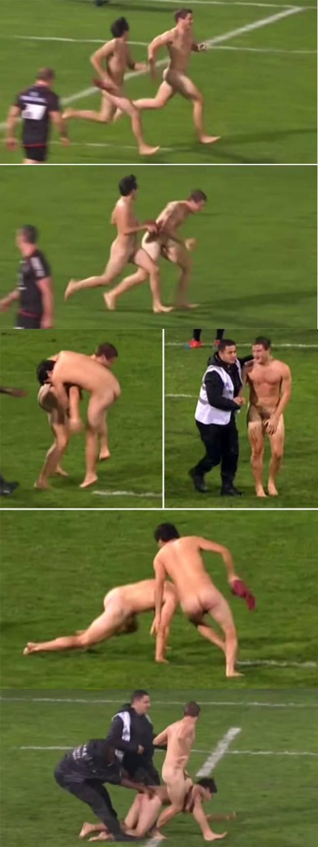 rugger bugger naked streaker football