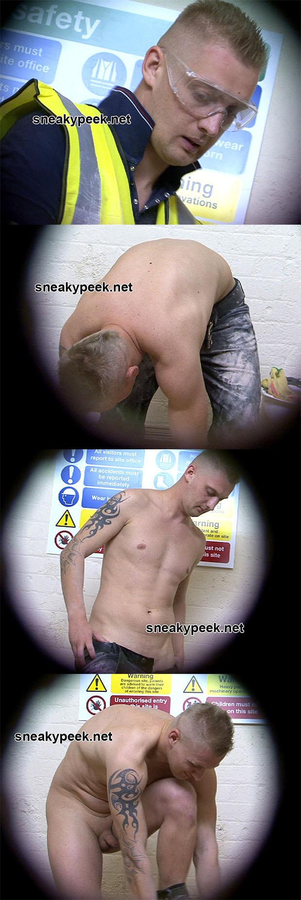 builder stripping naked