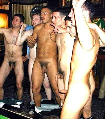 group of naked friends