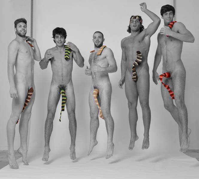 naked guys advertisement
