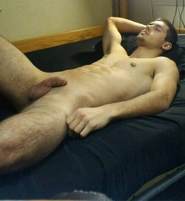 sleeping guy nude