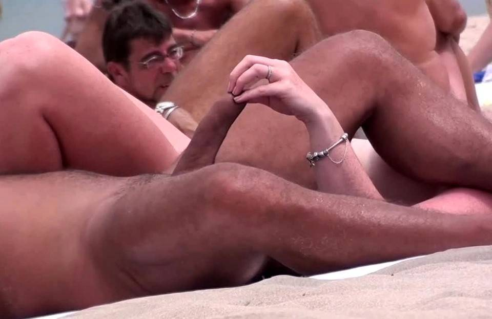 straight man erection beach