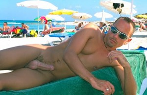 beach erection guy