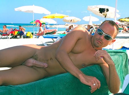 Men erections naked public