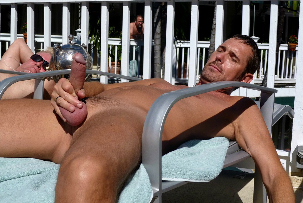 erections with Naked outdoors men