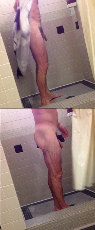man naked shower hidden cam