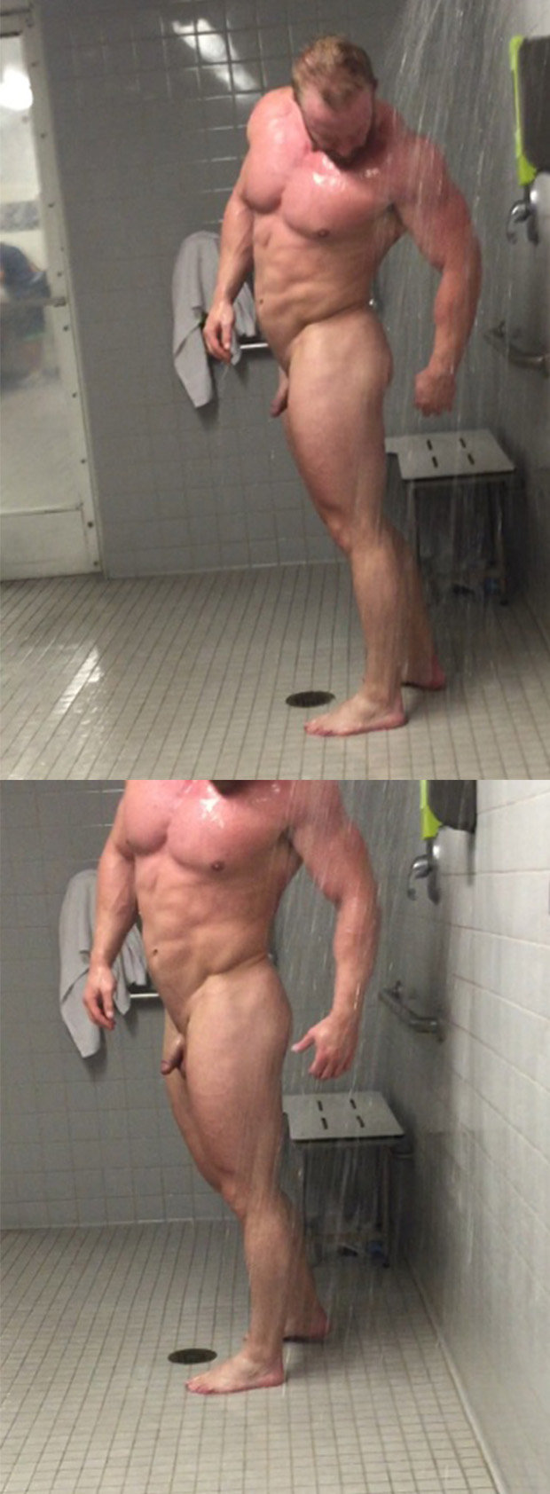 muscle naked shower