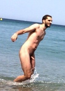 nude beach guy