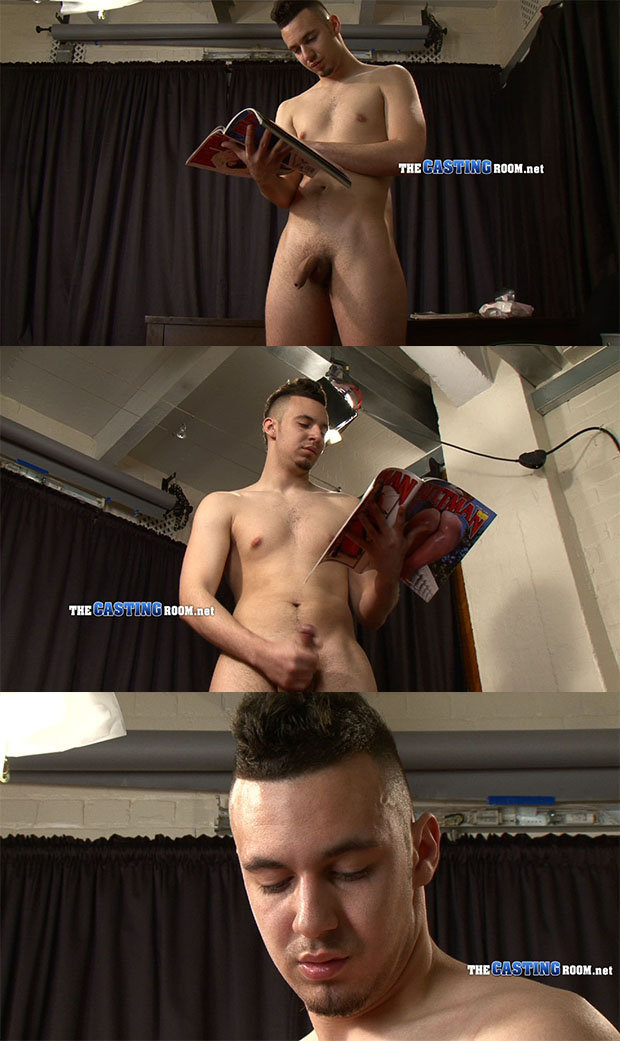 straight guy jerking with porn magazine