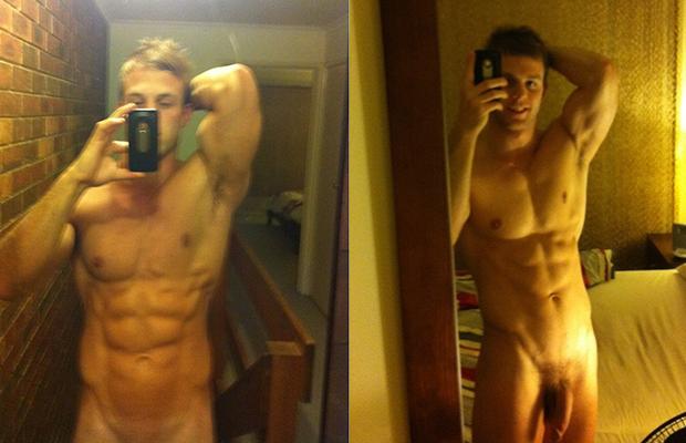 stud naked selfie