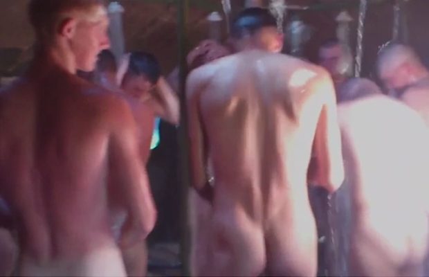 army lads group shower