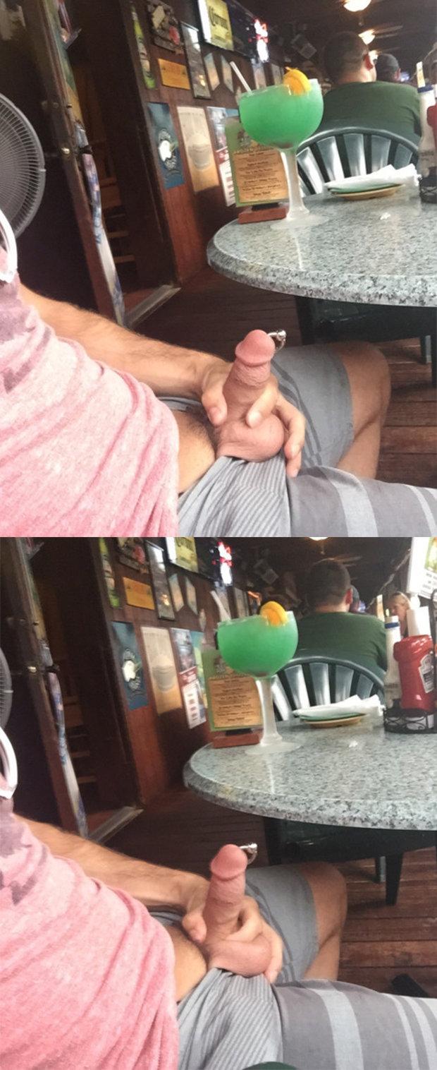 straight guy flashing dick