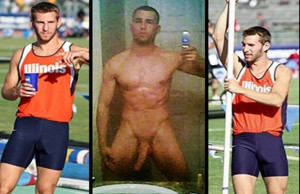 Naked pro sports men