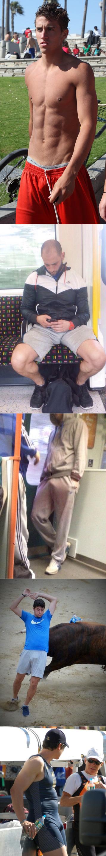 candid guys bulges public