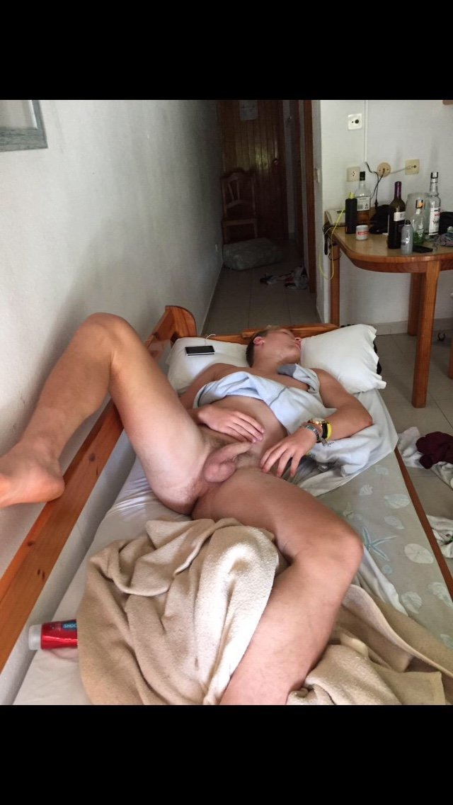 drunk guy sleeping naked