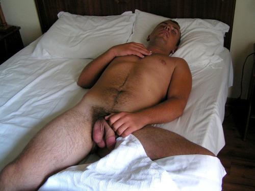 sleeping with cock out