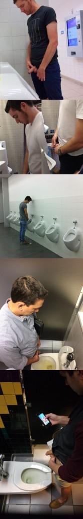 guys caught peeing urinals spycam