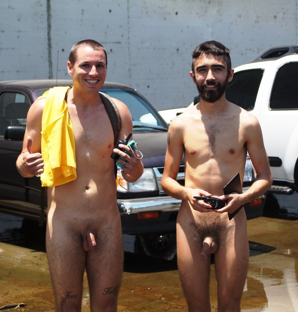 Hot naked men flashing