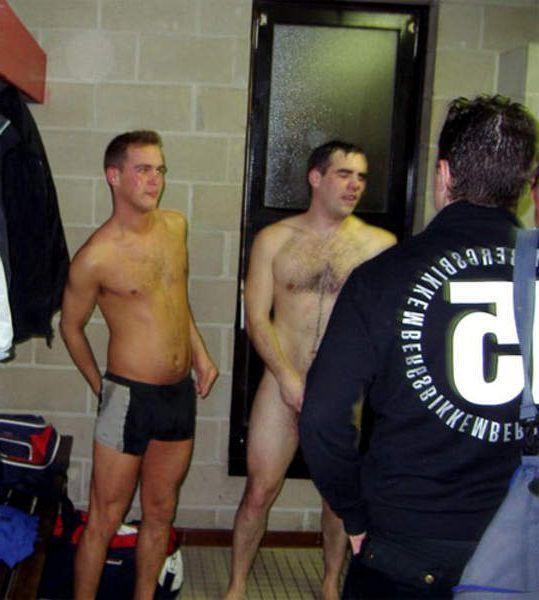 naked sportsmen lockerroom after game 6