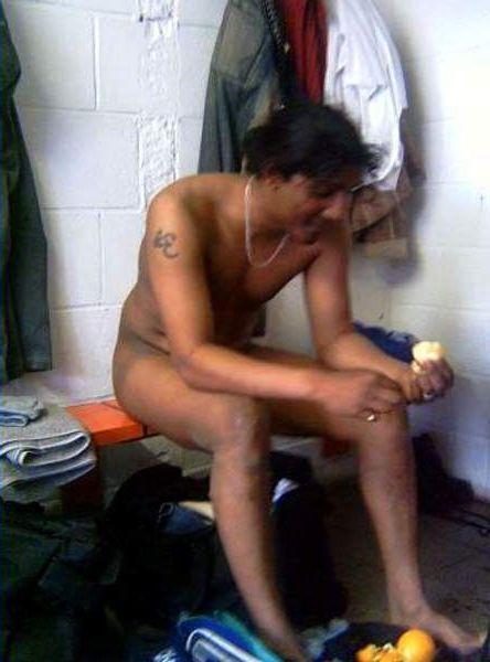 naked sportsmen lockerroom after game 7