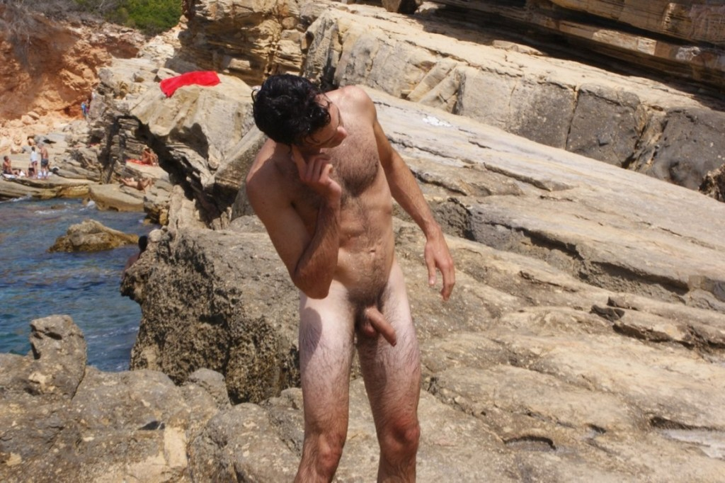 nudist man candid