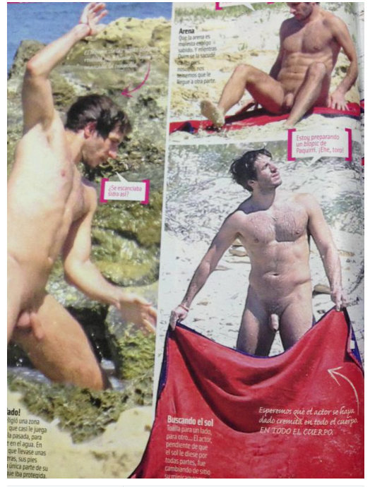 quim gutierrez actor naked paparazzi nudist beach