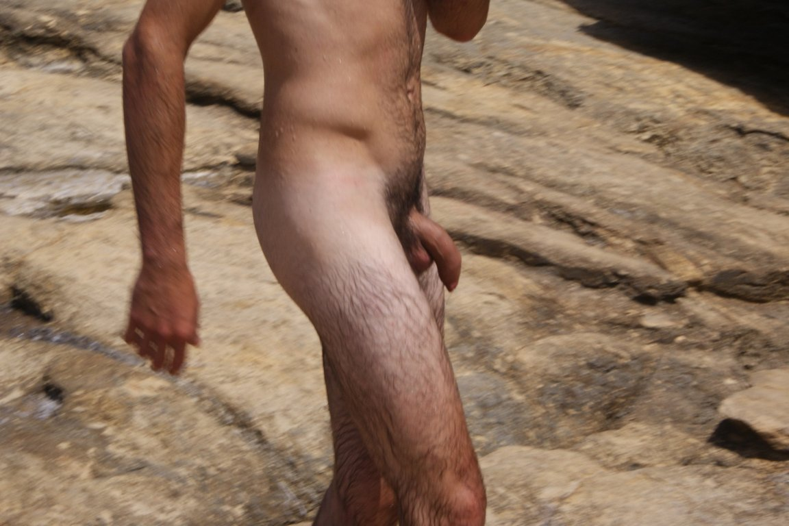 uncut dick nudist man